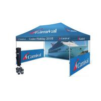 Customized Logo Outside Canopy Tents With Half Walls / Pop Up Event Tent For Trade Show