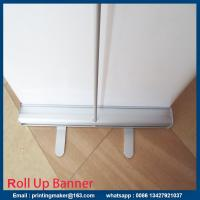 Quality Small Size Aluminum Pull Up Stand Retractable Printed Banner for sale