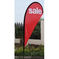 Quality Dye Sublimation Printing Teardrop Flag Banner for sale