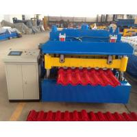 Steel Step Tile Making Machinery / Glazed Tile Cold Rolled Forming Machine