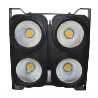 Quality IP20 COB LED Blinder 4x100W Warm White & Cool White 2IN1 Color DMX512 Control RDM Audience Light for sale
