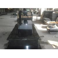 Quality Black Granite Memorial Headstones For Tombstone Polished Surface Finish for sale