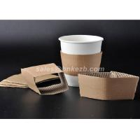 Buy Disposable Paper Cup Accessories Cardboard Paper Sleeves For Coffee Cups at wholesale prices