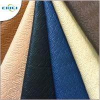 China Strong Teal Faux Leather Material Rolls Padded Comfortable Touching Feeling on sale