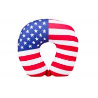 Best Personalized US Flag Airplane Neck Pillow , U Shaped Neck Pillow For Travel wholesale