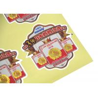 Quality Custom Packaging Printing Labels / Paper Adhesive Label , Adhesive Logo Stickers for sale