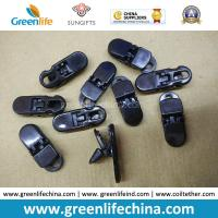Quality PC Material Solid Black Big Alliagator Clips 37x13MM for sale