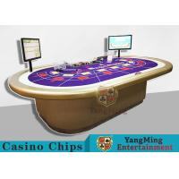 Custom RFID Casino Chips , Grade 10 Person Electronic Poker Table With Intelligent System
