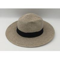 Quality Wide Brim Straw Panama Hat Fedora Foldable Beach Sun Hat/summer straw hat for sale