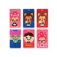 Quality Cartoon 3D Soft PVC Luggage Tag  Glueing 105 x 65 x 5mm For Bus Card Case for sale