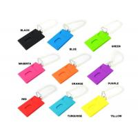Quality Colorful Silicone Key Chain For Travel Luggage Tag Bag Label , Multifunction for sale