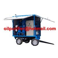 Quality Mobile Trolley Mounted Transformer Oil Filtration Machine, movable insulation oil purifier with car wheels trailer for sale