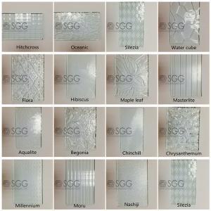 Quality 3mm 4mm 5mm 6mm Diamond Chinchilla Flora Nashiji Rolled Glass Figured Glass Pattern Glass for sale