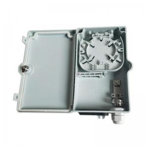 Quality Waterproof Gland 4 Core Optical Fiber Distribution Box / Small Fiber Optic Box for sale