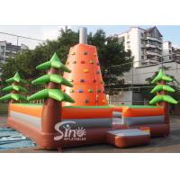 China Outdoor kids inflatable rock climbing wall for inflatable sports games activities on sale