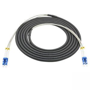 Quality Outdoor 5G Telecom CPRI Armored Multimode OM2/OM3/OM4 Fiber Optic Duplex LC Patch Cords for sale