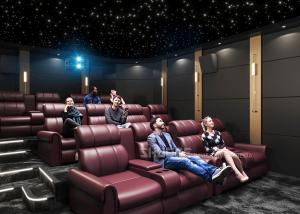 Quality Electric Leather Sofa Home Theater With Surround Speaker Subwoofer Projector for sale