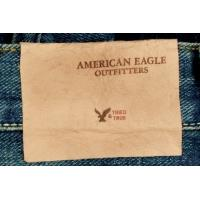 Quality Worn-out look Jeans leather tag for sale