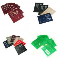 Square Shaped Smooth Garment Care Labels Screen Printing / Rotary Printing