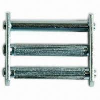 Quality 2-inch Silde Bar Buckle with Three Bars, Steel Sheet, and Zinc-plated Finish for sale