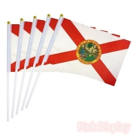 Quality PVC Pole State 8.2x5.5'' Hand Waving Flag for sale