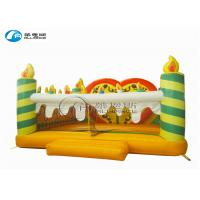 China party game rental inflatable birthday cake jumping house on sale