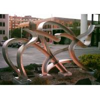 Quality Modern Hand Made Art Stainless Steel Metal Sculpture Landscaping Decoration for sale
