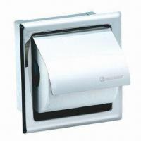 Quality Wall-mounted Single Square Paper Holder, Chrome Polished Finishing for sale