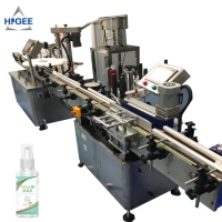 Quality Automatic mixer hand sanitizer 75% filling machine automatic liquid filling machine himalaya hand sanitizer fime filling for sale