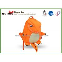 Quality Orange Animal Toddler Backpack For 1 Year Old Breathable Tyrannosaurus Shape for sale