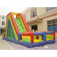 Best Slide Rock Climbing Inflatable Obstacle Course With 18Oz PVC tarpaulin wholesale