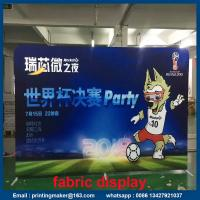 Quality Stretch Trade Show Tension Fabric Displays with Dye Sublimation Printing for sale