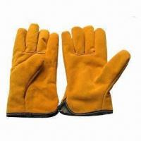 Quality Driver Gloves, Made of Cow Split Leather for sale