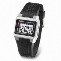 China 3ATM Water-Resistant LCD Sports Watch with Stainless Steel Back on sale