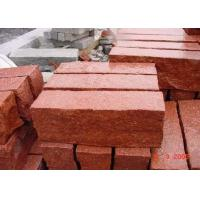 Quality Red Natural Paving Stones Tile For Stair Steps / Countertop Granite Material for sale