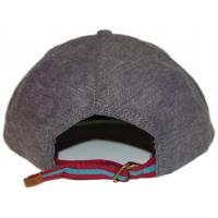 China 100% Cotton Brown 58cm Strap Back Hats With Adjustable Velcro / Metal Strap on sale