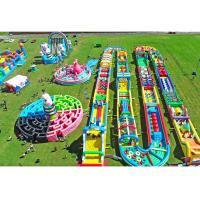 China Sgs Certificated Inflatable Obstacle Course For Outdoor Event Promotion / Competition on sale