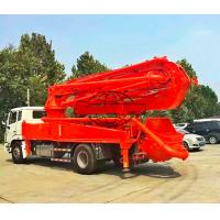 Quality 4x2 Truck Mounted Concrete Boom Pump High Strength Steel Boom Material for sale