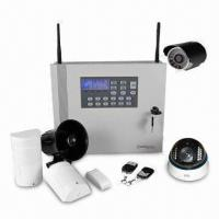 Quality Video Camera DVR GSM Alarm System, Supports 10/100Mbps Self-adaptive Network Port for sale