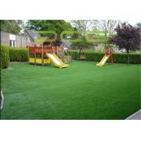 Quality Long Useful Life Artificial Grass For Playground , Synthetic Grass For Playgrounds for sale