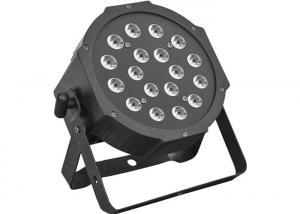 Quality Factory supply dj disco club lights 18x3W rgb slim dmx fat led par light for stage show event party for sale
