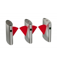 Quality TCP IP Interface 600mm Land SS304 Flap Turnstile Gate for sale