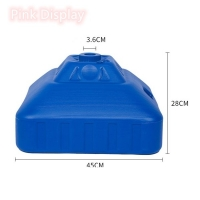 Quality Rectangle 45x28cm Flag Base PVC Plastic Water Tank for sale