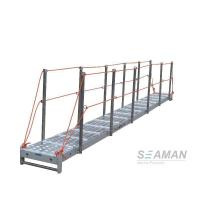 Quality CCS Aluminium Wharf Ladder With Hand Rails & Socket For Dock , Port for sale