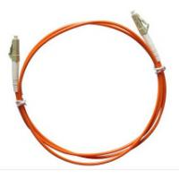 Quality Multimode LC to LC Simplex Fiber Optic Patch Cord with 3.0mm Orange PVC Jacket for sale