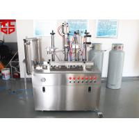 Buy cheap Semi Automatic Hair Spray Aerosol Filling Machine 5000-8000cans/shift from wholesalers
