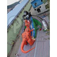 Quality Inflatable King Kong Dinosaur Fight Gaint Slide for sale