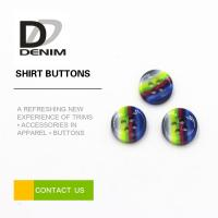 China Rainbow Fancy Dress Shirt Buttons Abundant Designs For Clothing Industry on sale