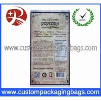 Quality Customized Printing Reusable Plastic Food Packaging Bags / Microwave Popcorn Bag for sale