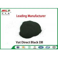 Quality Vat Direct Black DB Textile Cotton Fabric Dye Chemicals Used In Textile Dyeing for sale